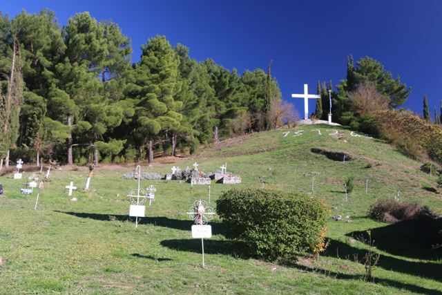 Kalavrita - Some victims were buried where they fell in 1943