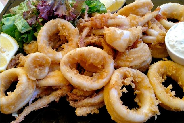 Greek food: Kalamari squid