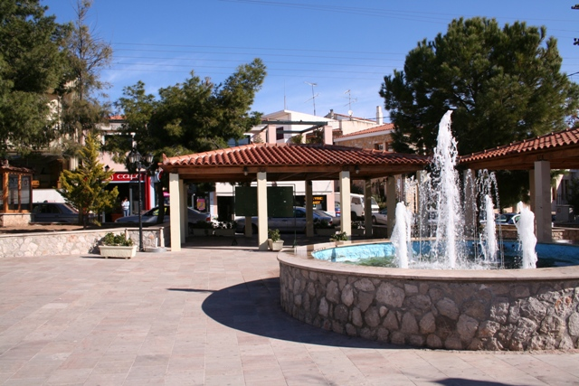 The central plateia fountain at Kranidi