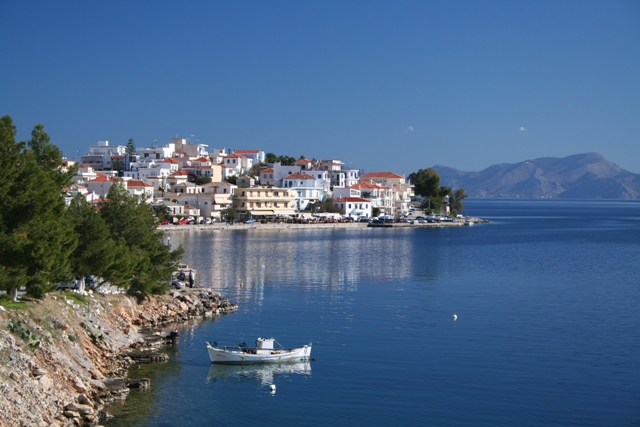 A view towards Hydra island from Mandrakia