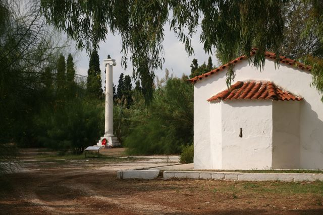 Marathon - Trophy and chapel of Panaghia Mesosporitissa