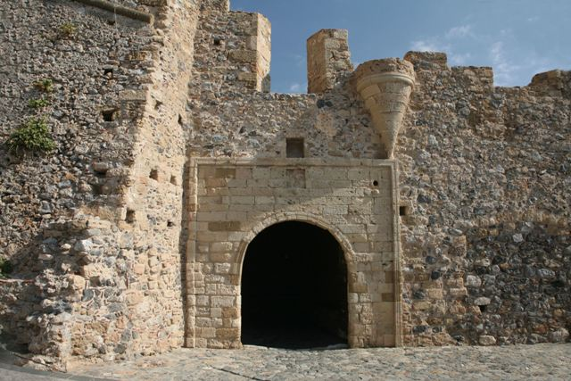 Monemvasia - Medieval arched gateway into the town
