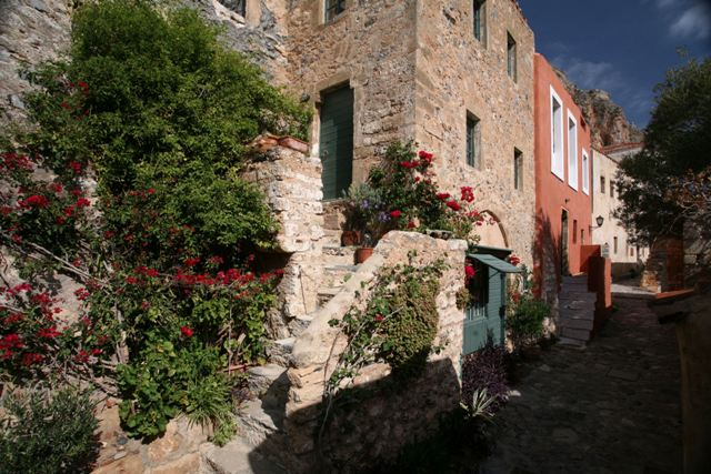 Monemvasia - Street with private and guest houses