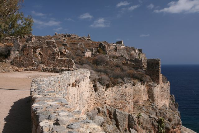 Monemvasia - Archaeological ruins of the Upper Town