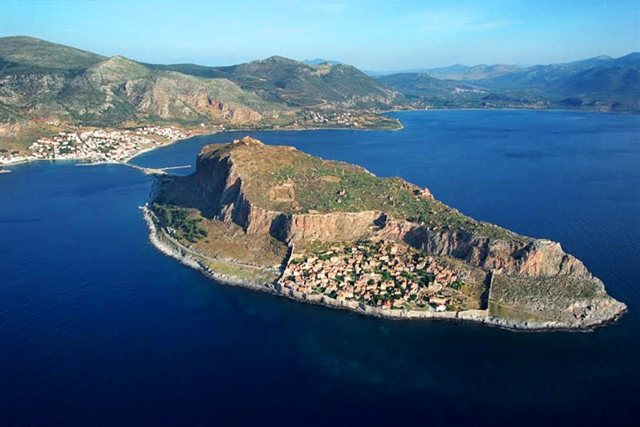 Monemvasia - Aerial view of Monemvasia