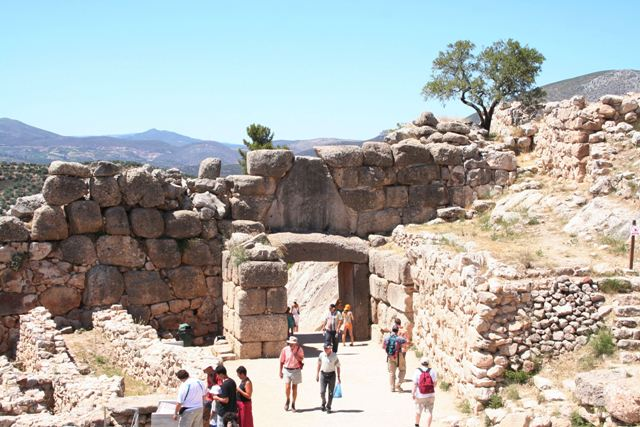Mycenae - Interior view of the Lion Gate entrance