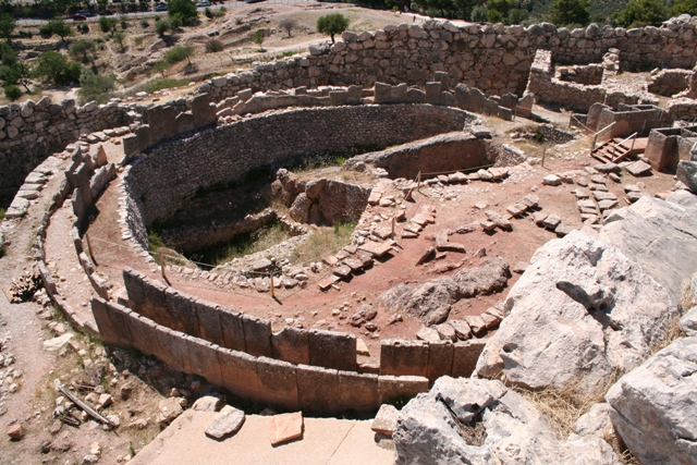 Mycenae - Grave circle 'A' - contained six royal graves