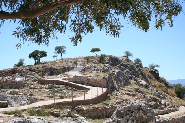 Mycenae - Pathway leading to the newer eastern extension