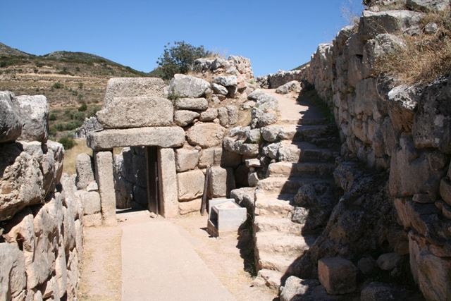 Mycenae - Interior of the North Gate - also known as Postern Gate