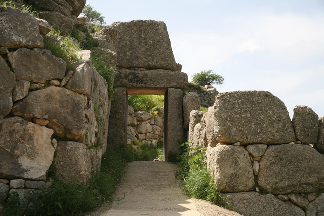 Mycenae - North Gate - built in the same style as the Lions Gate