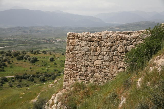 Mycenae - The southern bastion - near the house of columns