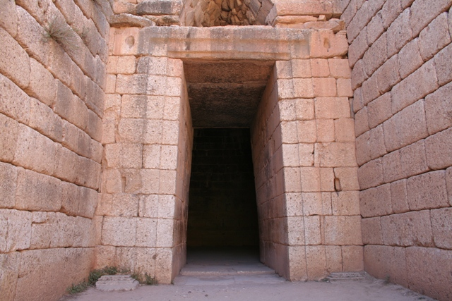 Mycenae - The facade entrance to the tholos tomb