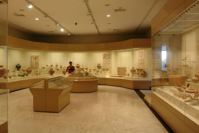 Mycenae Archaeological Museum - Interior exhibits