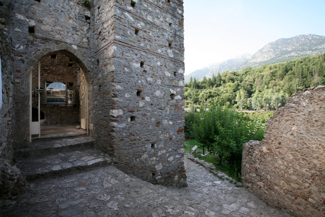 Mystras - Entrance to Villehardouin's castle