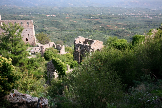 Mystras - Looking down to the Palace and main square