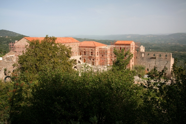 Mystras - View of the reconstructed Palace complex