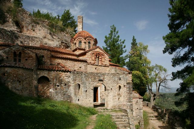 Mystras - Monastery of the Peribleptos - Southern side
