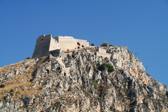 Nafplio - View of the Venetian Palamidi fortress from the old town