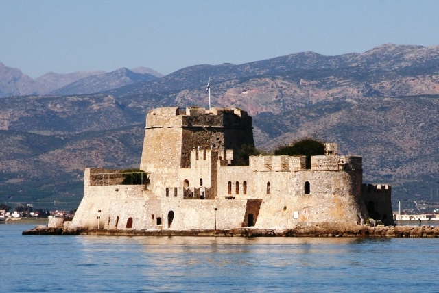 Nafplio - The Bourtzi fortress - the symbol of the city