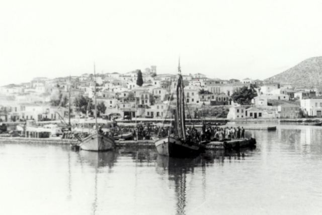LIMANI - Port with Old Village in the background