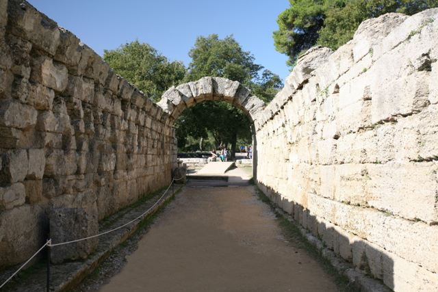Ancient Olympia - The Crypt archway of the stadium