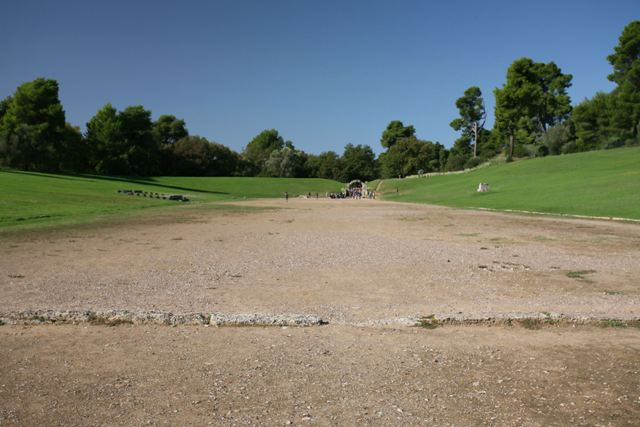 Ancient Olympia - Finishing line at the end of the race course