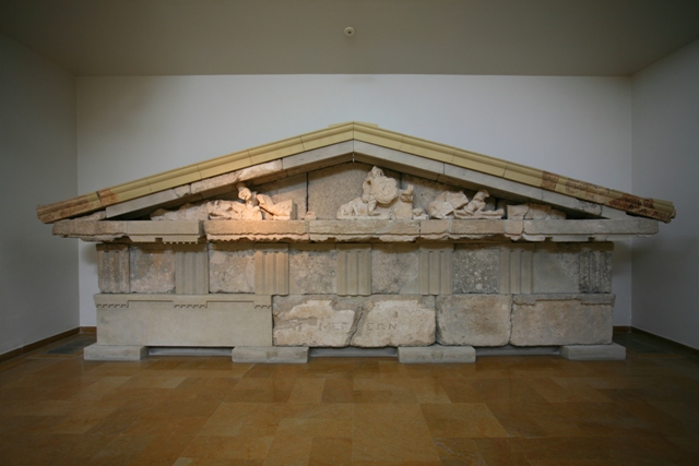 Ancient Olympia Museum - Pediment from the Megarian treasury