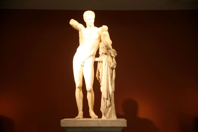 Ancient Olympia Museum - Marble statue of Hermes of Praxiteles