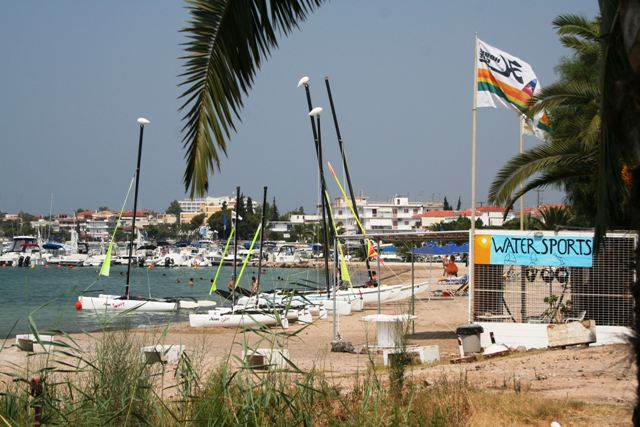 The modern resort town of Porto Heli