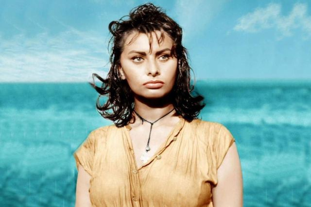 Hydra Island - Sophia Loren as Phaedra in 'Boy on a Dolphin' in 1956