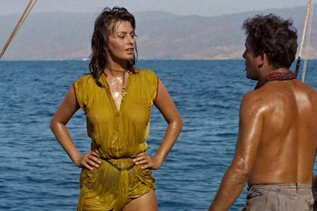 Hydra Island - Sophia Loren in 'Boy on a Dolphin' movie scene