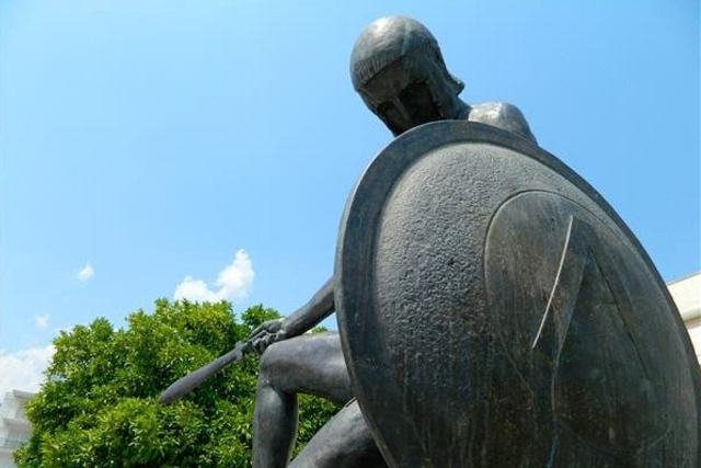 Sparta - Statue of Spartan Warrior in the main square