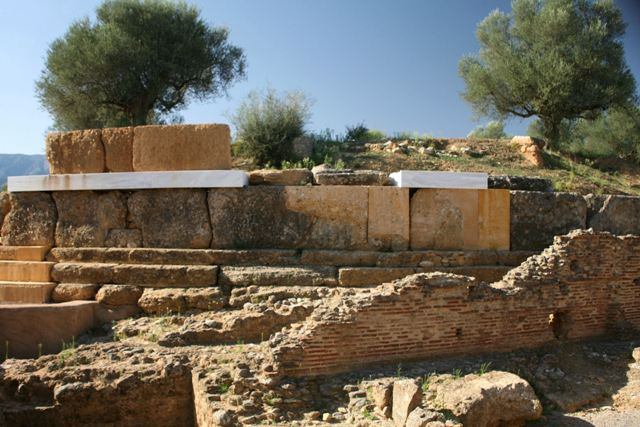 Acropolis of ancient Sparta - The circular Rotunda building