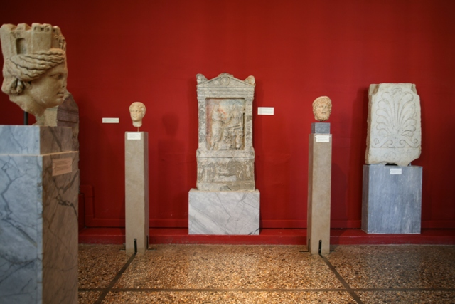 Sparta Archaeological Museum - Display of ancient stele's