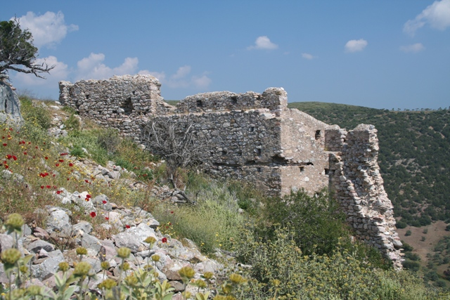 The Frankish Thermisia castle from the summit
