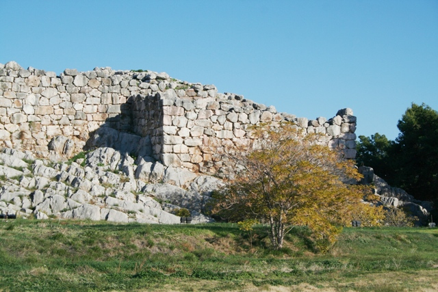 Tiryns - The Western bastion in front of the Great Megaron palace