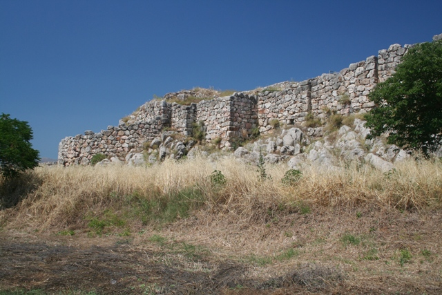 Tiryns - The Western bastion viewed from the South