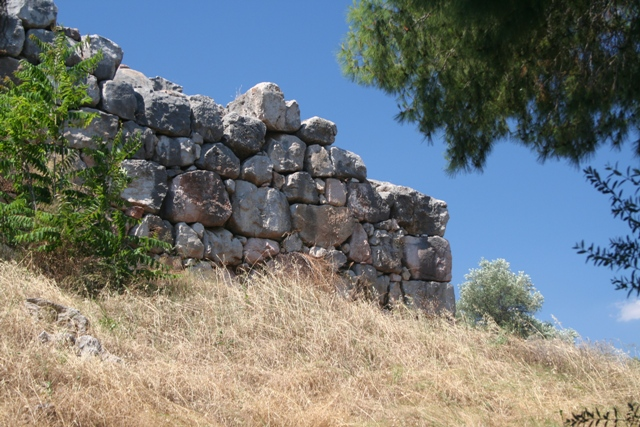 Tiryns - The Southern side of the fortification walls