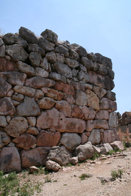Tiryns - Some of the interior Cyclopean walls of Tiryns