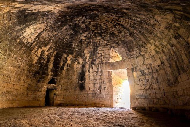 Mycenae - The 'beehive' tholos domed chamber