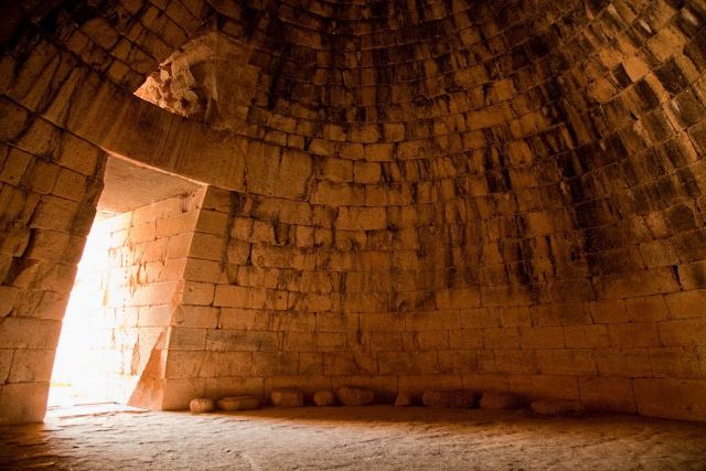 Mycenae - The 'beehive' chamber of the Treasury of Atreus