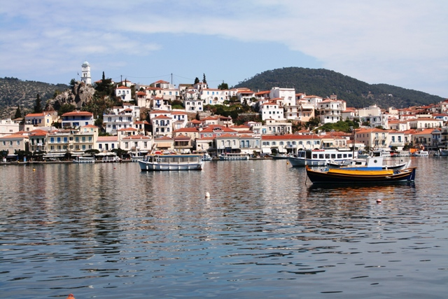 Poros - looking from the town of Galatas