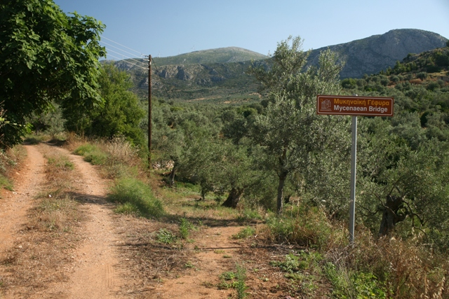 Pathway leading down to the Eastern Mycenaean bridge
