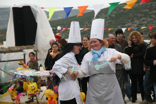 February 18 - Carnival - Even the cooks join in the festivities