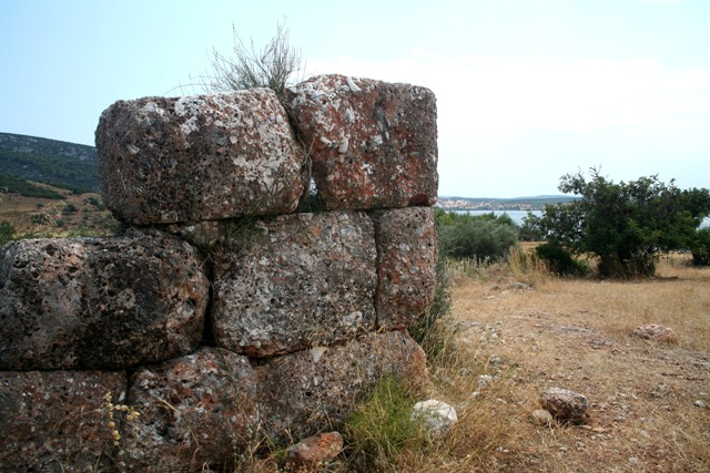 The nearby Macedonian stone watchtower