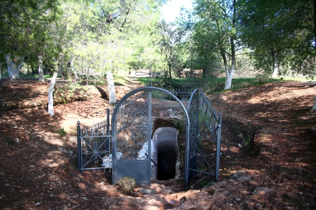 The tunnel entrance to the small cave of Didyma