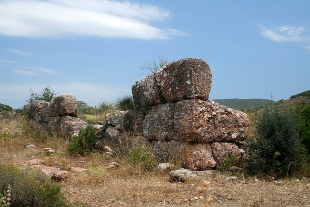 The Hellenistic watchtower close to the Cave of Franchthi