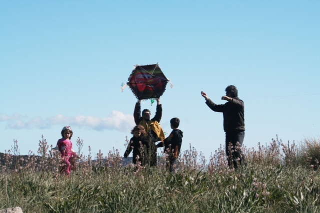 February 19 - Clean Monday - Flying kites on Pronos hill