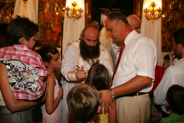 August 15 - Panaghia festival - Morning concludes with Holy communion