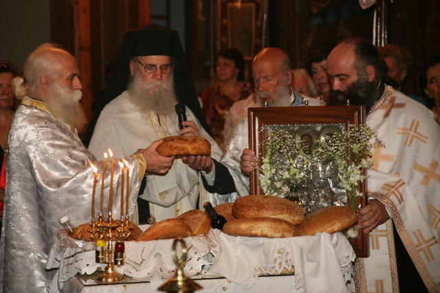August 14 - Panaghia festival - Blessing of the holy bread